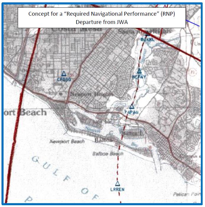 RNP Departure Map