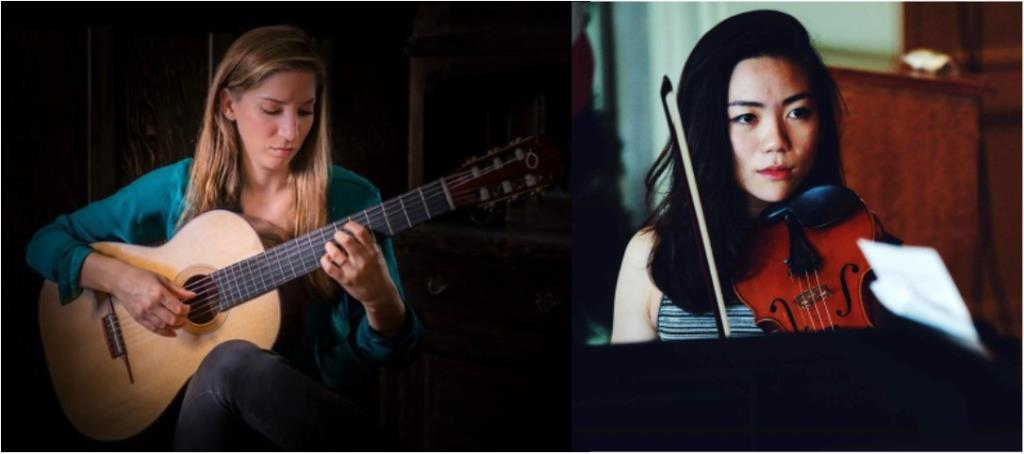 Guitarist Ines Thome and violinist Mann-Wen Lo