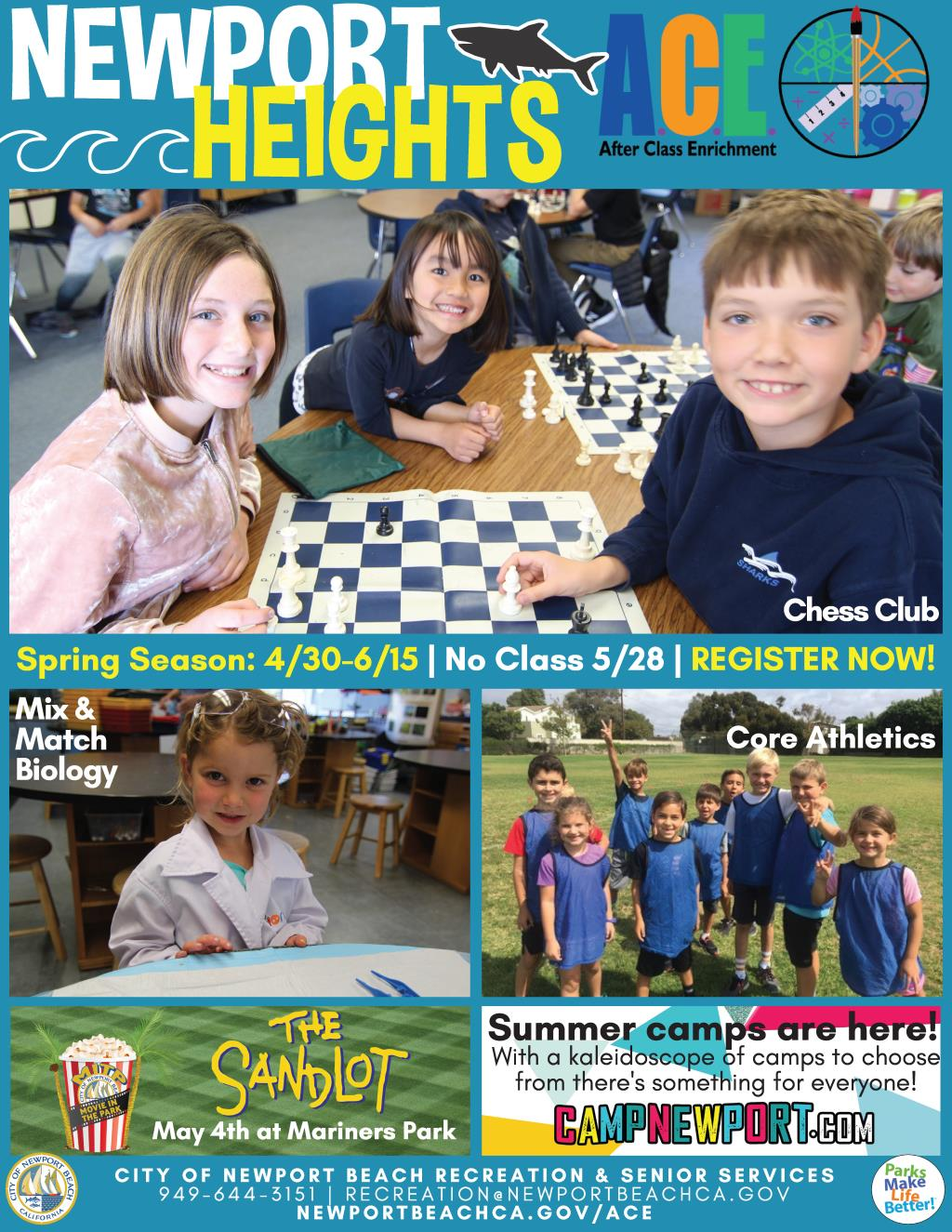 Newport Heights Spring ACE 2018 Cover