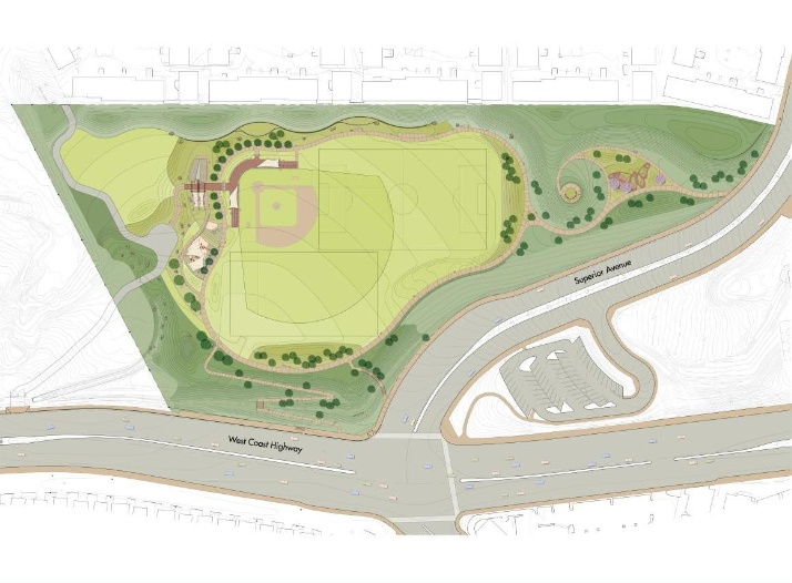 Sunset Ridge Park Site Plan