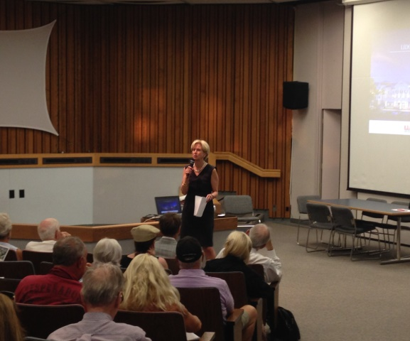 Mayor Dixon at Town Hall Meeting