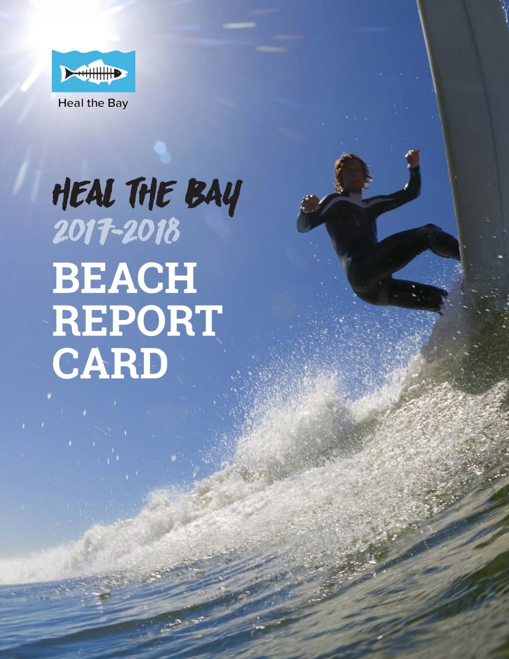 Heal The Bay Beach Report Card 2017-18 Cover