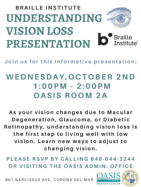 Vision Loss Presentation 2019